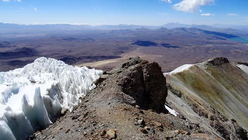 Near Acotango summit looking back