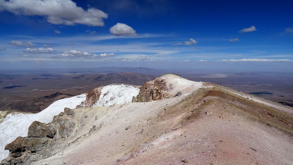 Acotango summit looking east