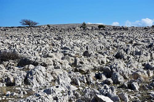 The karst 'desert' towards Diviska