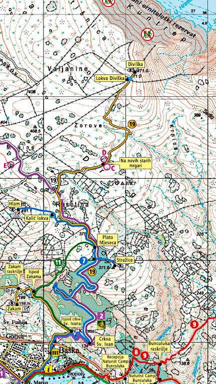 Diviska marked trails