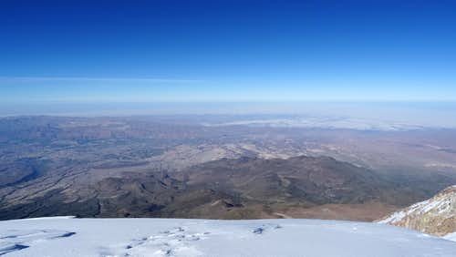 View towards Arequipa from the summit