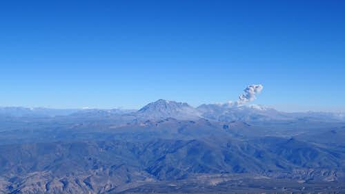 Ampato and Sabancaya (venting) viewed from the summit
