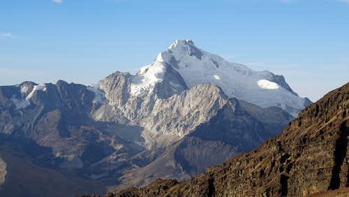 Viewed from the ski lodge near Chacaltaya