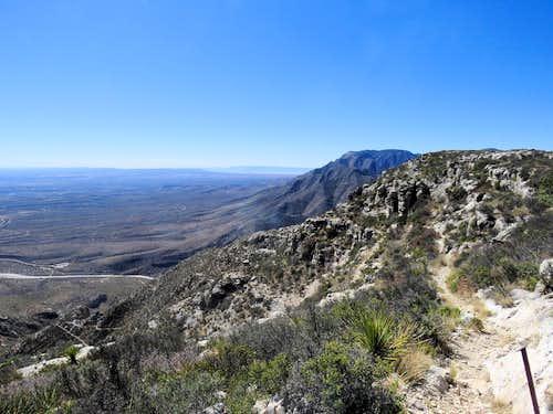 Where the trail reaches the plateau