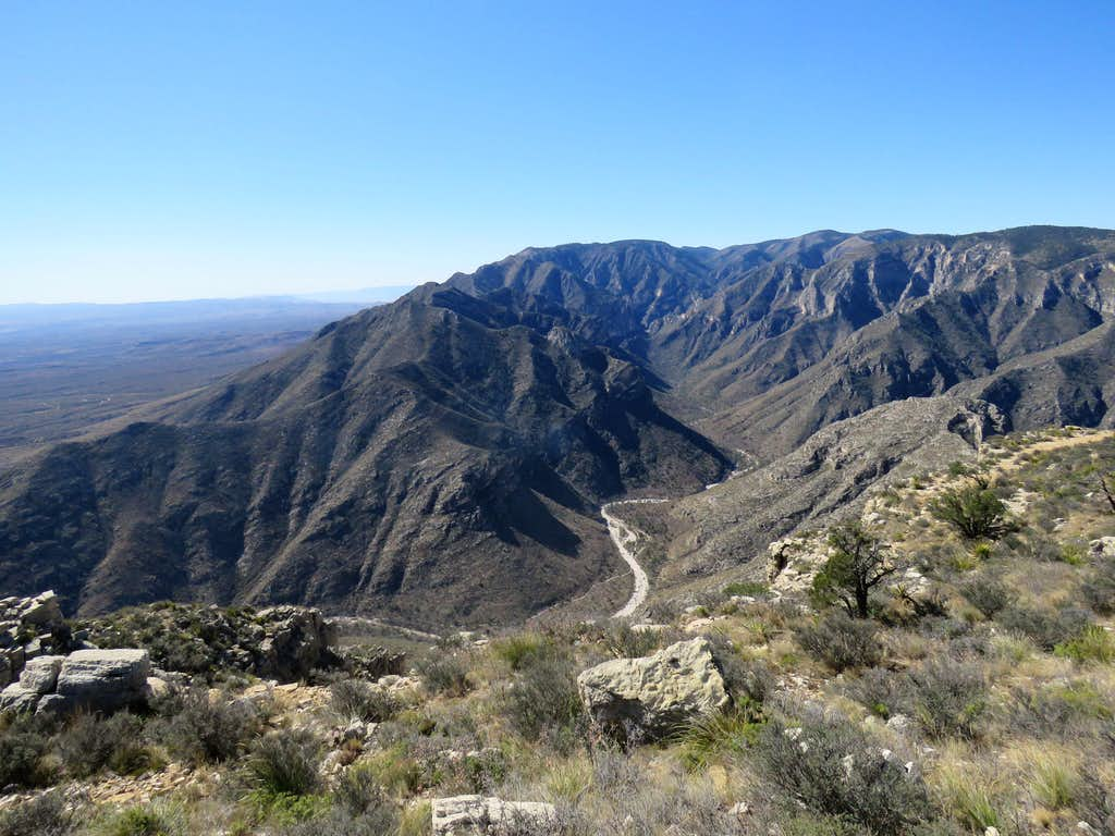 Mckittrick Canyon, from the top plateau