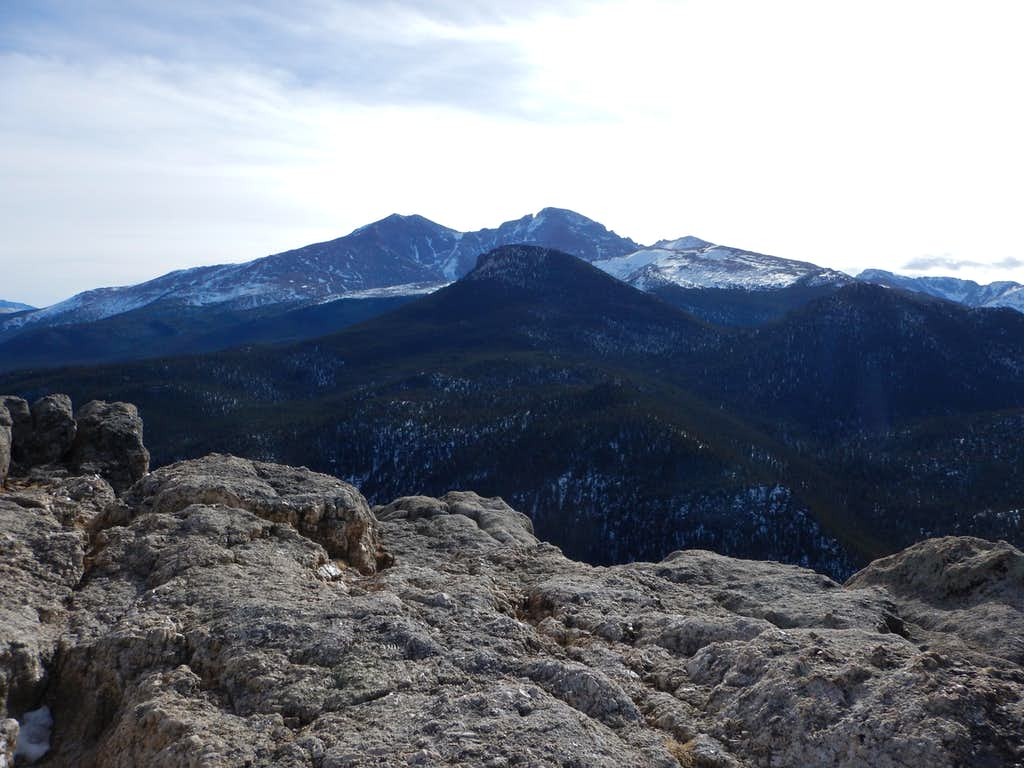 Longs Peak from the summit of Lily Mountain.