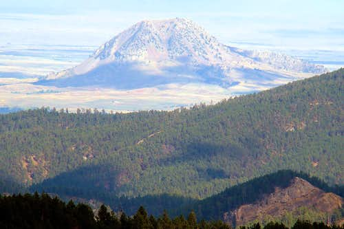 Mt. Roosevelt Telephoto View of Bear Butte