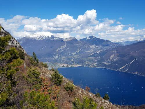 Northern Garda Lake and Monte Stivo from Cima Mughera
