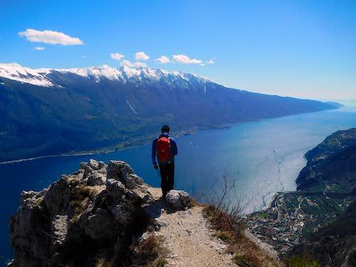 Admiring Monte Baldo from Cima Mughera