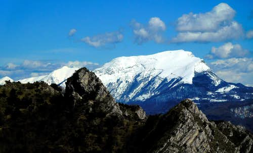 Close-up of Monte Stivo from Cima Mughera