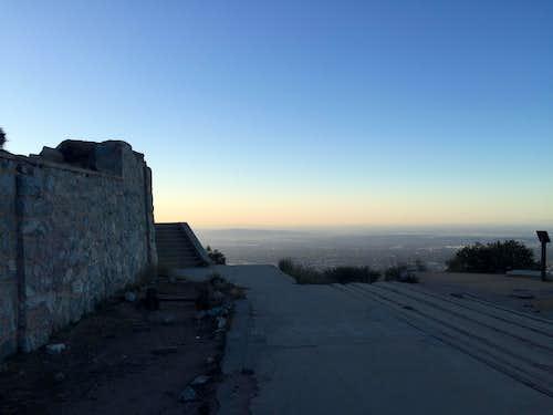 Sunrise from summit