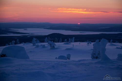 Lapland at dusk