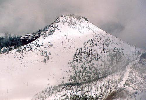 Close up of the Middle Summit...