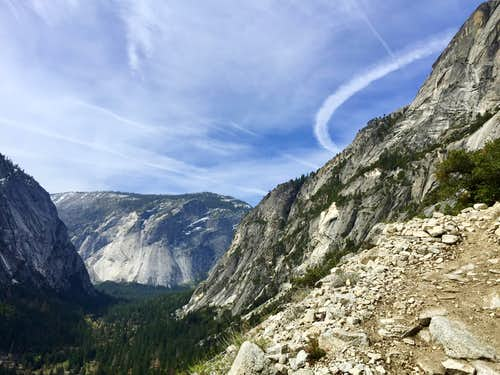 Hiking to North Dome 04-11-2015