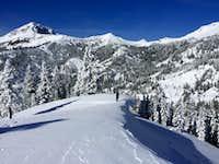 02-20-2016 snowshoeing Diamond Peak with my friend Bob