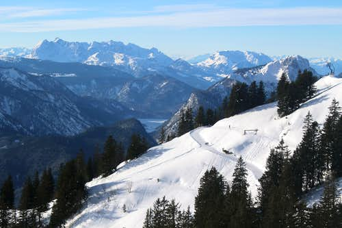 Xmas in Ruhpolding: Wilder Kaiser and Zahmer Kaiser from the Rauschberg