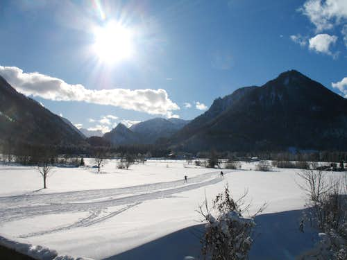 Xmas in Ruhpolding: Cross country ski-ing, Grashof Loipe 1