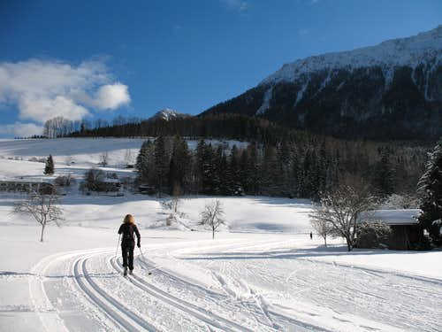 Xmas in Ruhpolding: Cross country ski-ing, Grashof Loipe 2