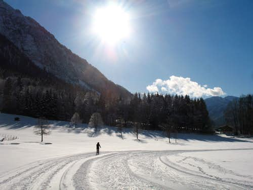 Xmas in Ruhpolding: Cross country ski-ing, Grashof Loipe 3