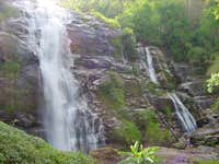 Scenic waterfalls abound,...
