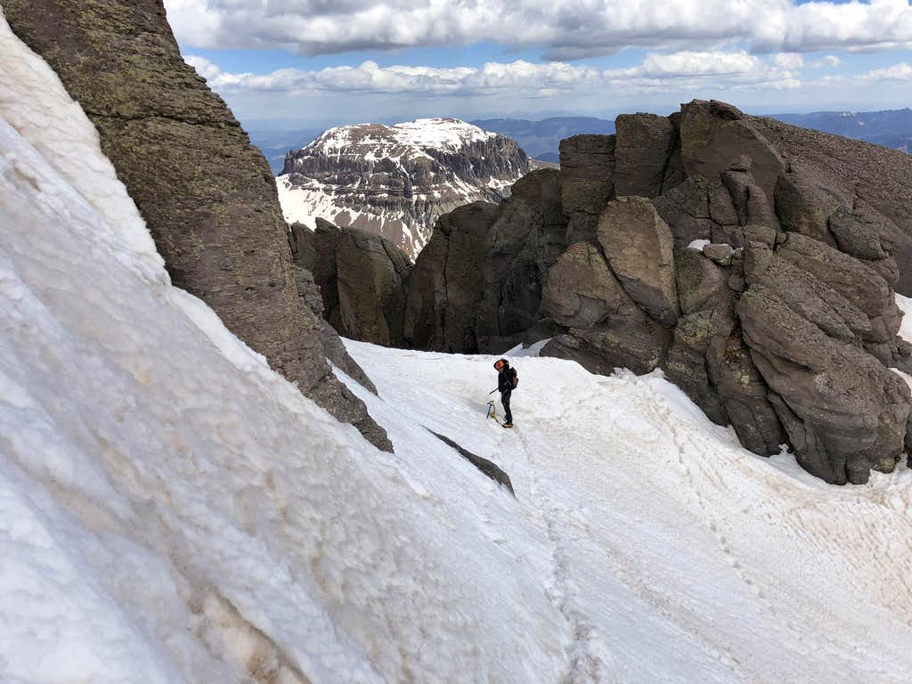 Top of North Couloir