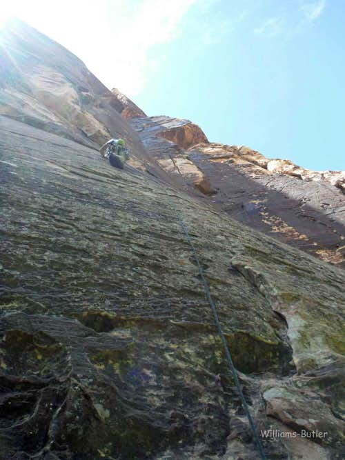 Risky Business, 5.10c, 4 Pitches