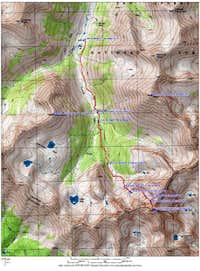 topo map, route & area