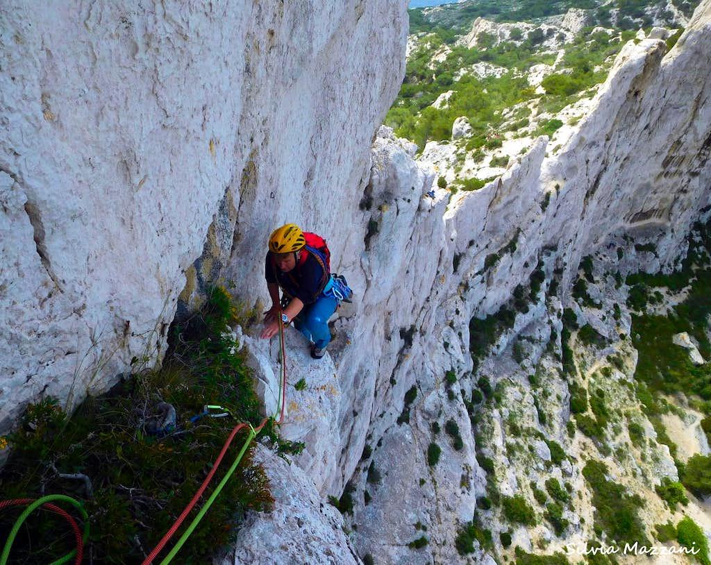 Airy climb on La bonne mere -  Rocher St Michel