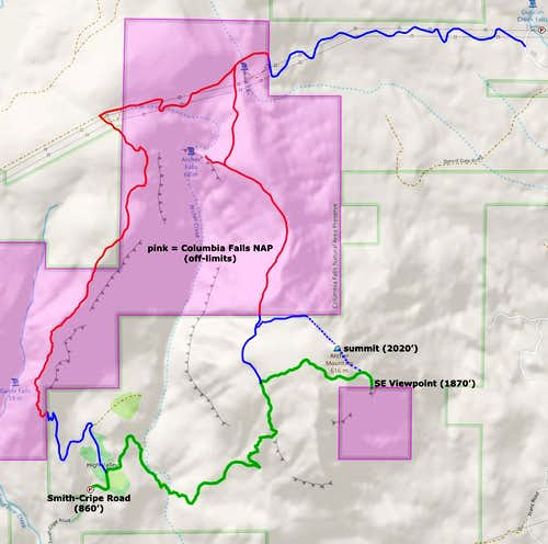 DNR restricted areas