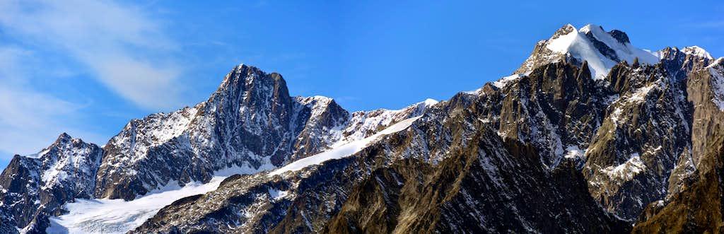 The Aiguille Des Glacier and the Trelatete Group