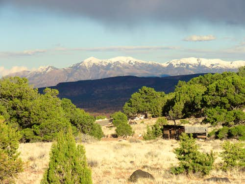 Fresh snow over the Henry Mountains