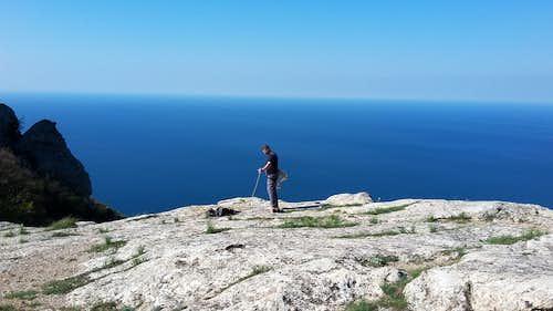 Climbing Iliyas-kaya Crimea