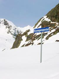 Starting point of the ski route