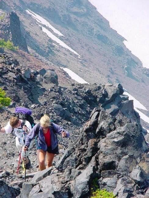 Hike up the NW ridge. Try not...