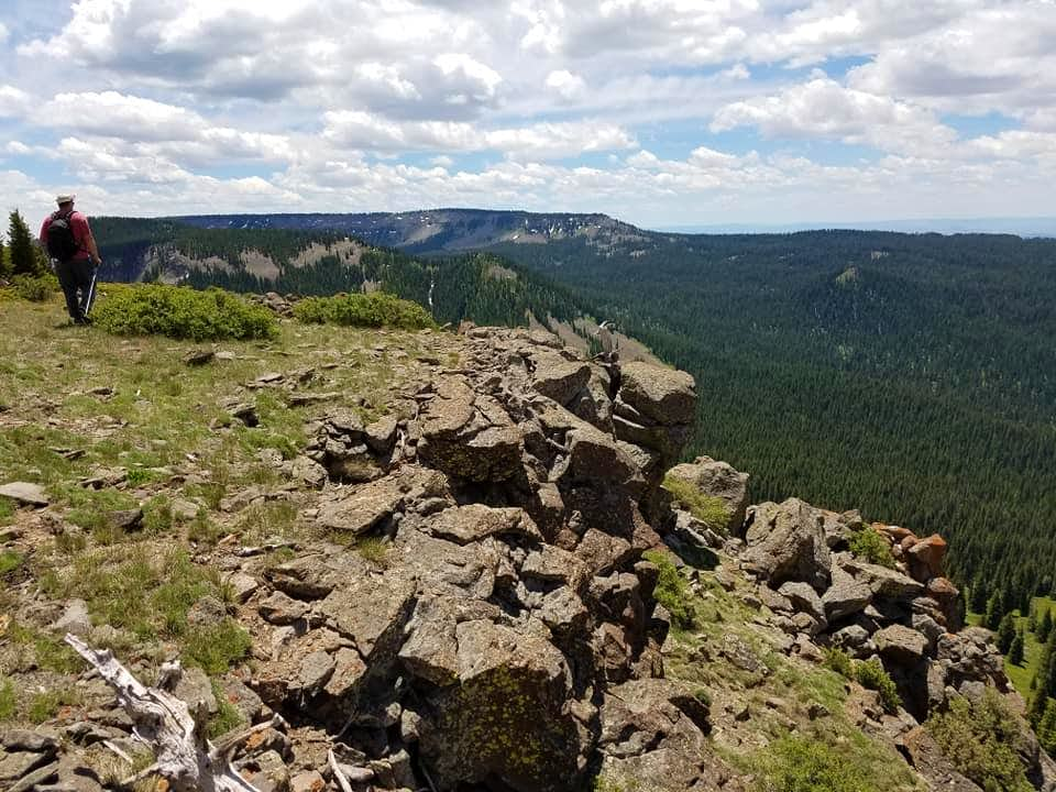 Near the summit of Mount Welba
