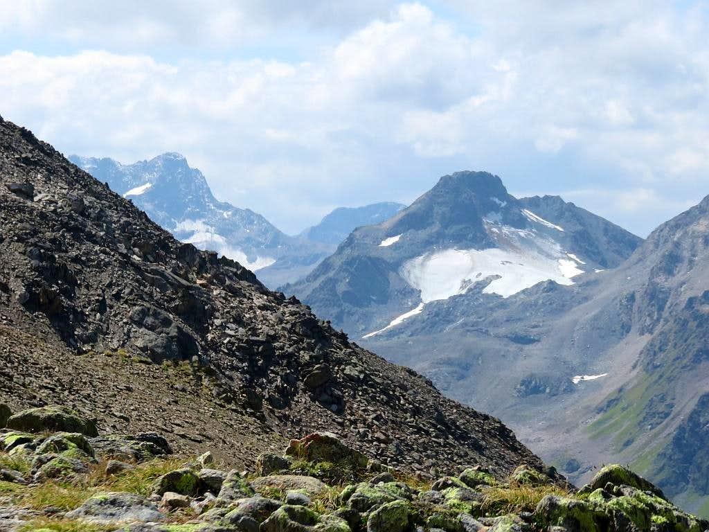 Albula Alps with Piz Kesch on the left