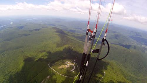Mt. Greylock as seem from paraglider which launched from the summit.