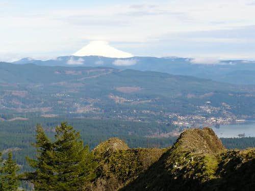Mt. Adams rises above...