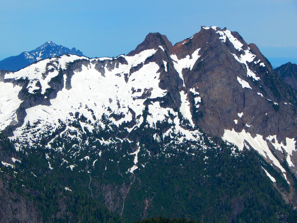 Mount Pilchuck and Big Four Mountain from Sheep Mountain