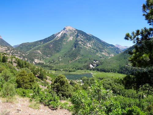 Beaver Lake, the town of Marble & Whitehouse Mountain
