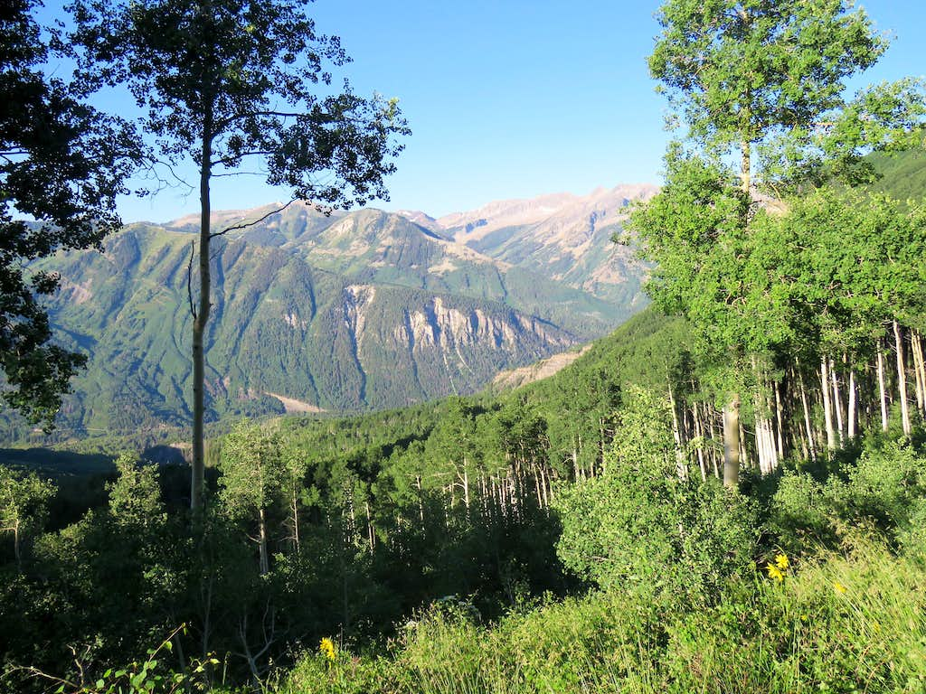 The Raggeds from top of the Aspen forest