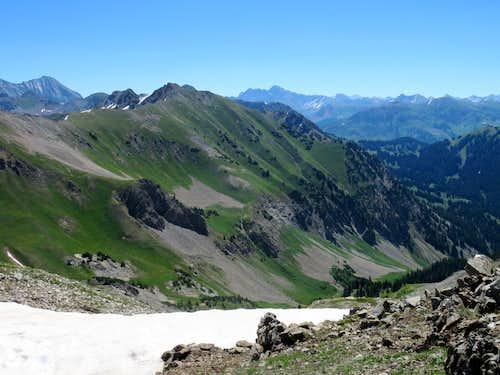 Maroon Peak (M) & Hagerman Peak (L)