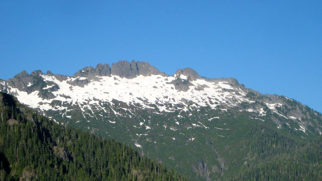 Spire Mountain from Troublesome Mountain SE Ridge