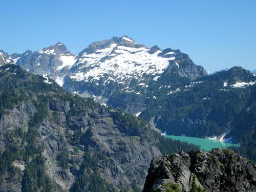 Monte Cristo Peak, Kyes Peak, and Blanca Lake from Troublesome Mountain