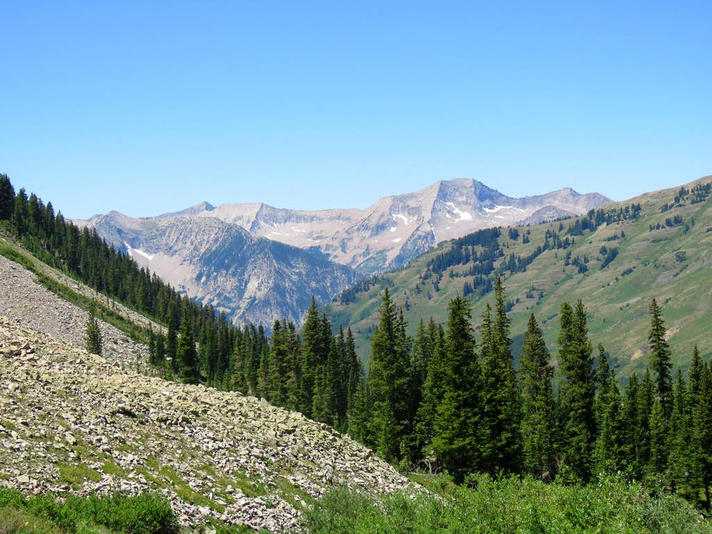 Chair Mountain from Carbonate Creek Trail north of Marble