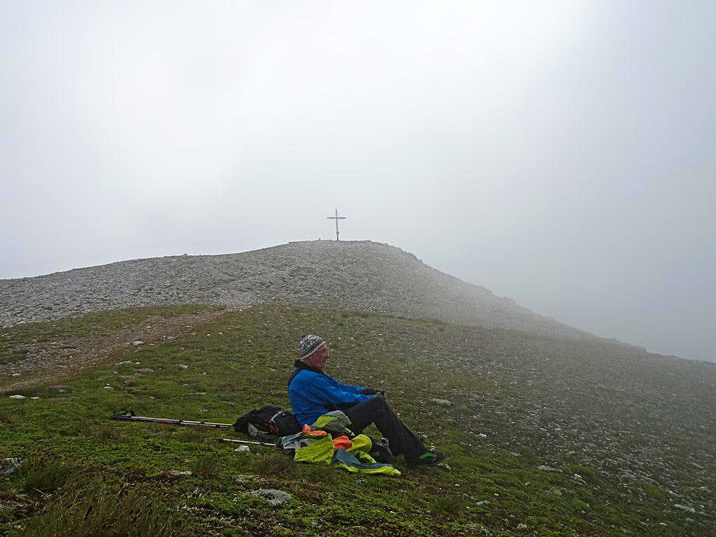 On the summit of Weisseck