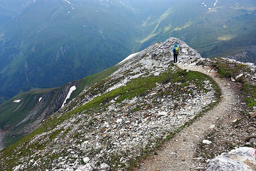 Descending from the Weisseck