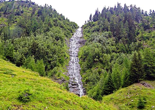 Waterfall in the upper Mur valley