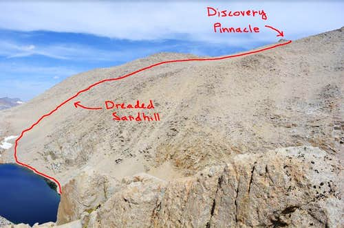Dreaded Sandhill to Discovery Pinnacle
