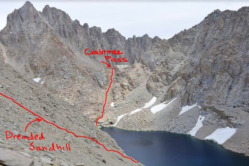 Crabtree Pass and Dreaded Sandhill